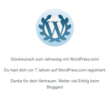WordPress Jahrestag, Pohlimag und Ihr!