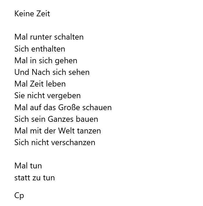 Keine Zeit von Carsten Pohl