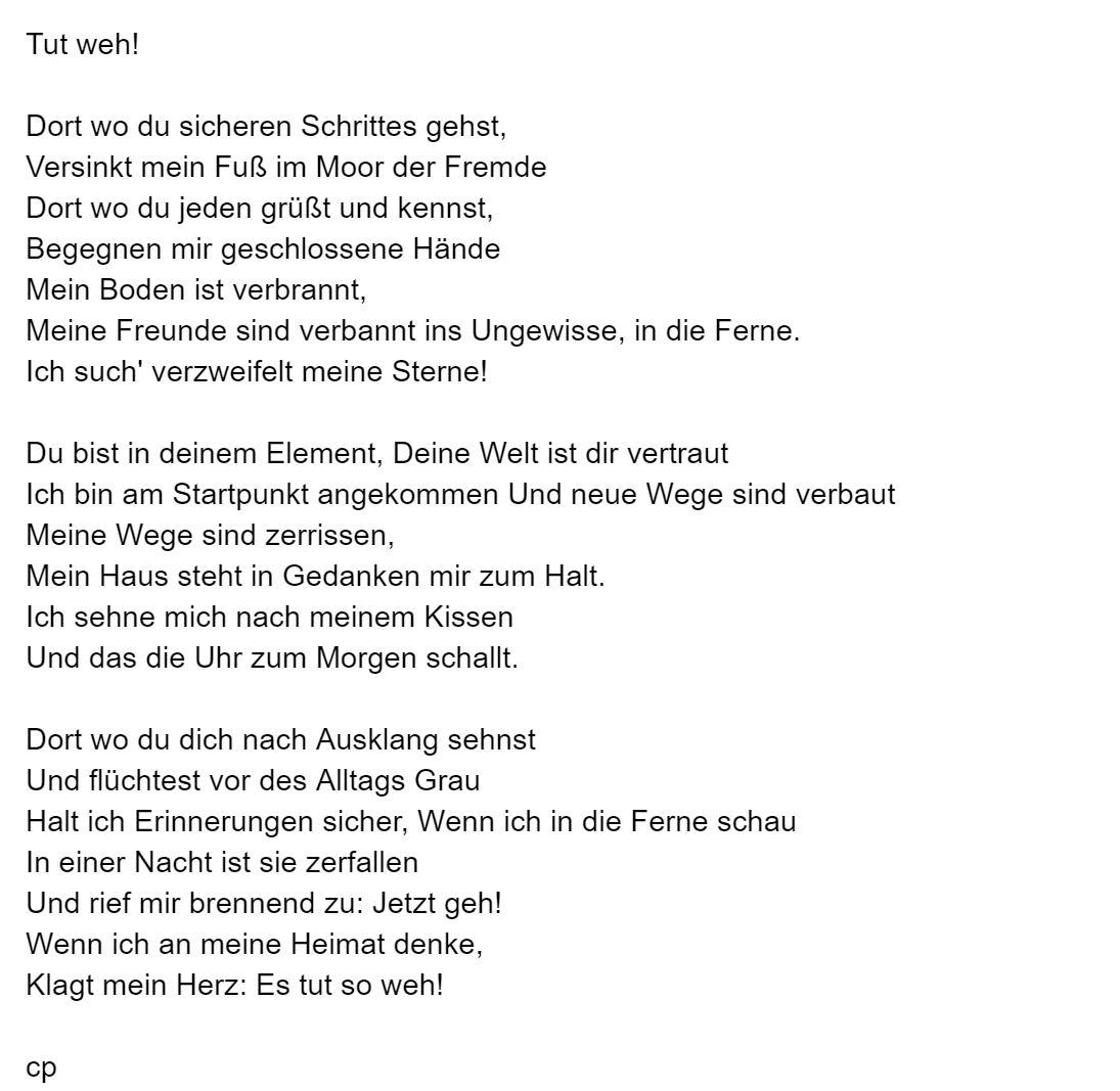 Tut Weh von Carsten Pohl