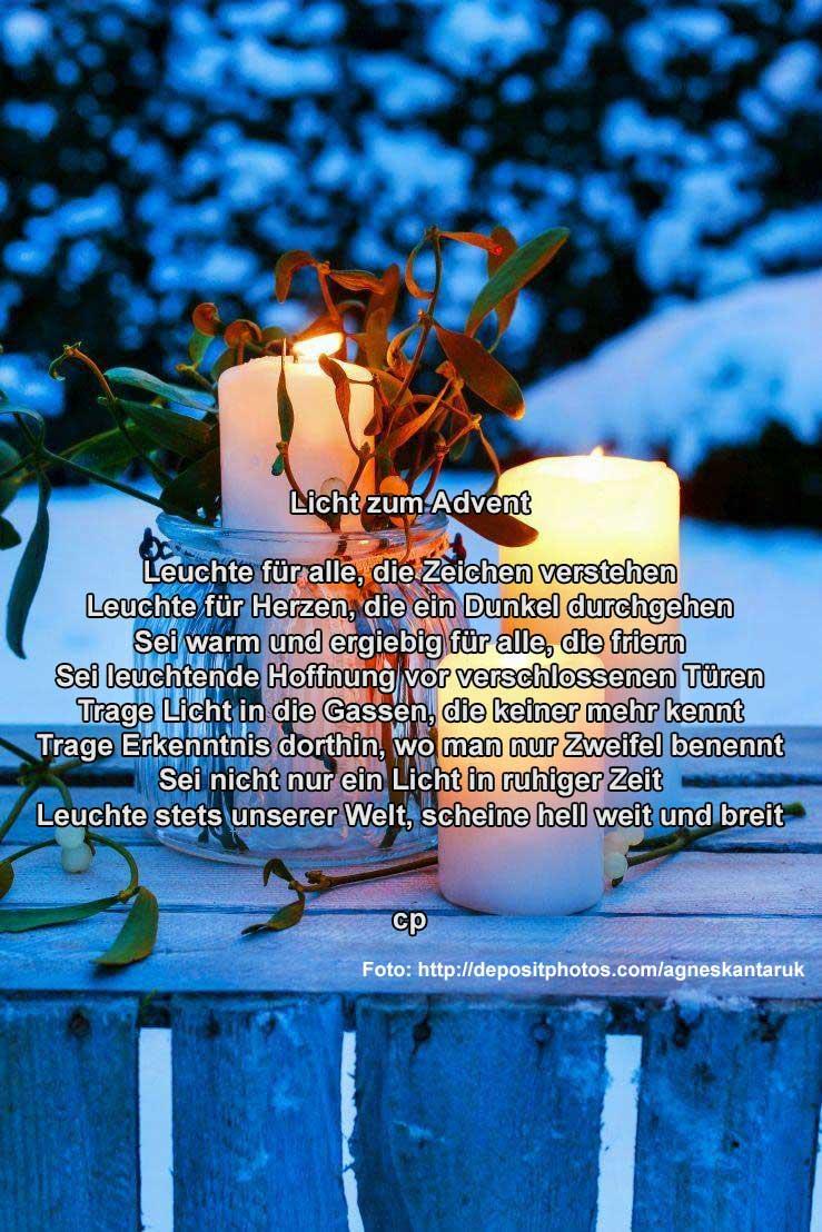 Licht zum Advent Kurzgedicht